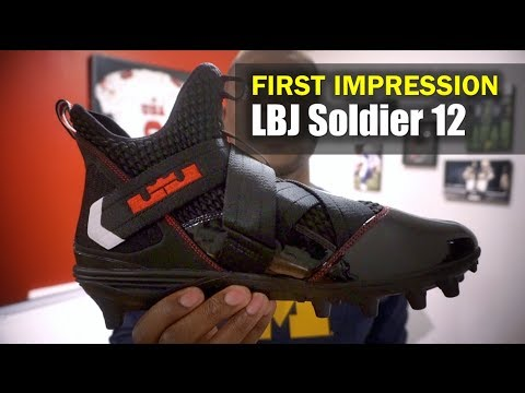 newest ea3cf d1a3d LeBron Soldier 12 Football Cleat (Ohio State): First ...