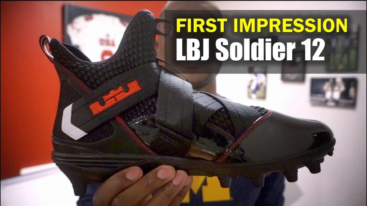 384dddf403dc LeBron Soldier 12 Football Cleat (Ohio State)  First Impression ...