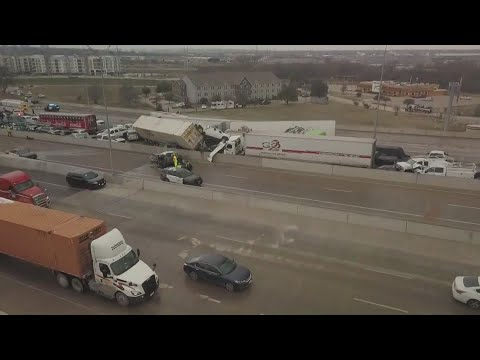 What we know about Thursday's massive pileup on I-35W in Fort Worth