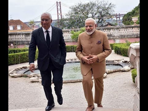 PM Modi at the Joint Press Statements with PM of Portugal António Costa in Portugal
