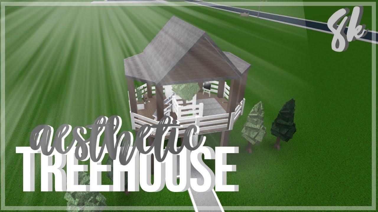 Roblox Bloxburg Aesthetic Treehouse Youtube