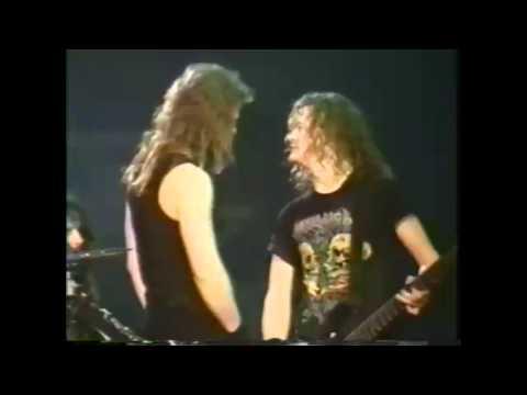 Metallica Fail - Jason Pisses Off James in 1992 (Seek And Destroy)