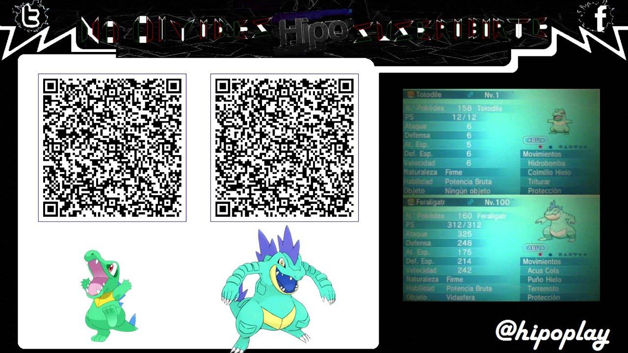 Terminado Code Qr Iniciales Johto Con Ho Feraligart Amp Totodile Pokemon Xy Oras Youtube