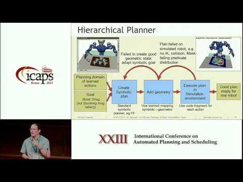 ICAPS 2013: Richard Dearden - An Approach for Efficient Planning of Robotic Manipulation Tasks