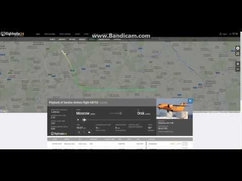 Saratov Flight 6W703 crash near Moscow on Flightradar24