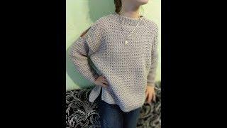 Модный свитер для девочки. 5 часть.