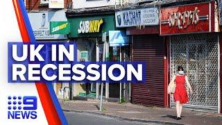 Coronavirus: UK officially in recession | 9 News Australia