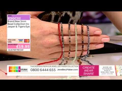 How To Make Gemstone Jewellery - JewelleryMaker LIVE (AM) 04/12/2014