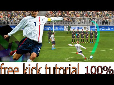 tutorial free-kick pes 2018 mobile never miss 100%