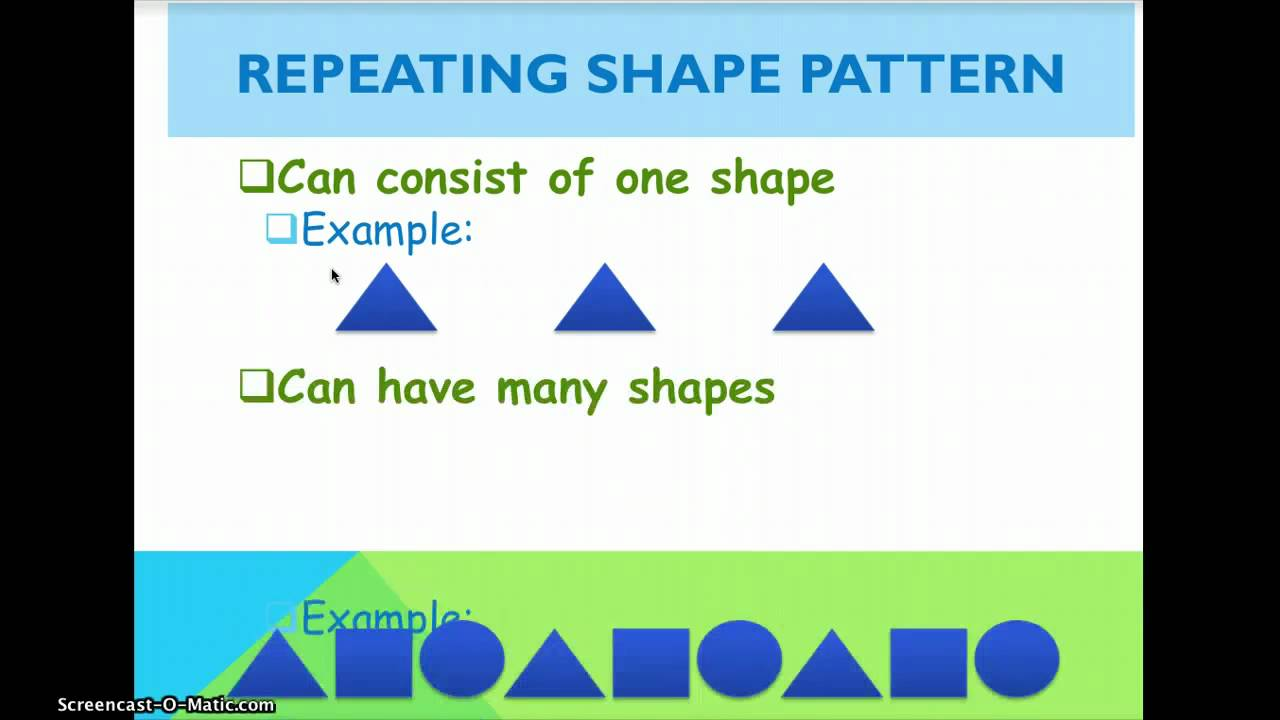 hight resolution of Repeating And Growing Patterns - YouTube