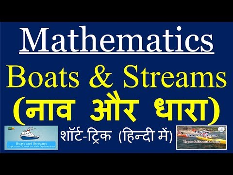 Boats & Streams नाव और धारा mathematics short-tricks in hindi SSC-CGL Bank-PO Railways etc.