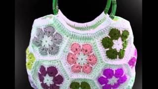 Вязаные крючком сумки Мотив Африканский цветок(Вязаные сумки - это всегда эксклюзив! Вязание крючком позволяет даже начинающей вязальщице подарить себе..., 2013-11-06T09:31:41.000Z)