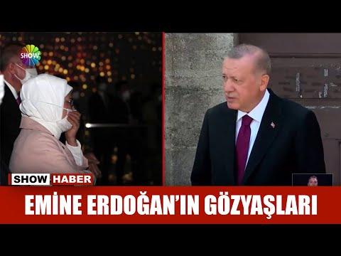 Emine Erdoğan'ın gözyaşları