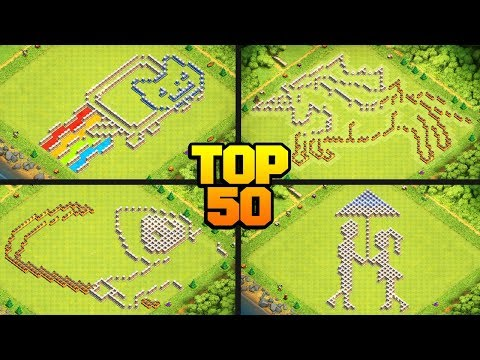 TOP 50 FUNNY/TROLL CoC Base Design Compilation For TH6 To TH13 W/ COPY LINKS! - Clash Of Clans