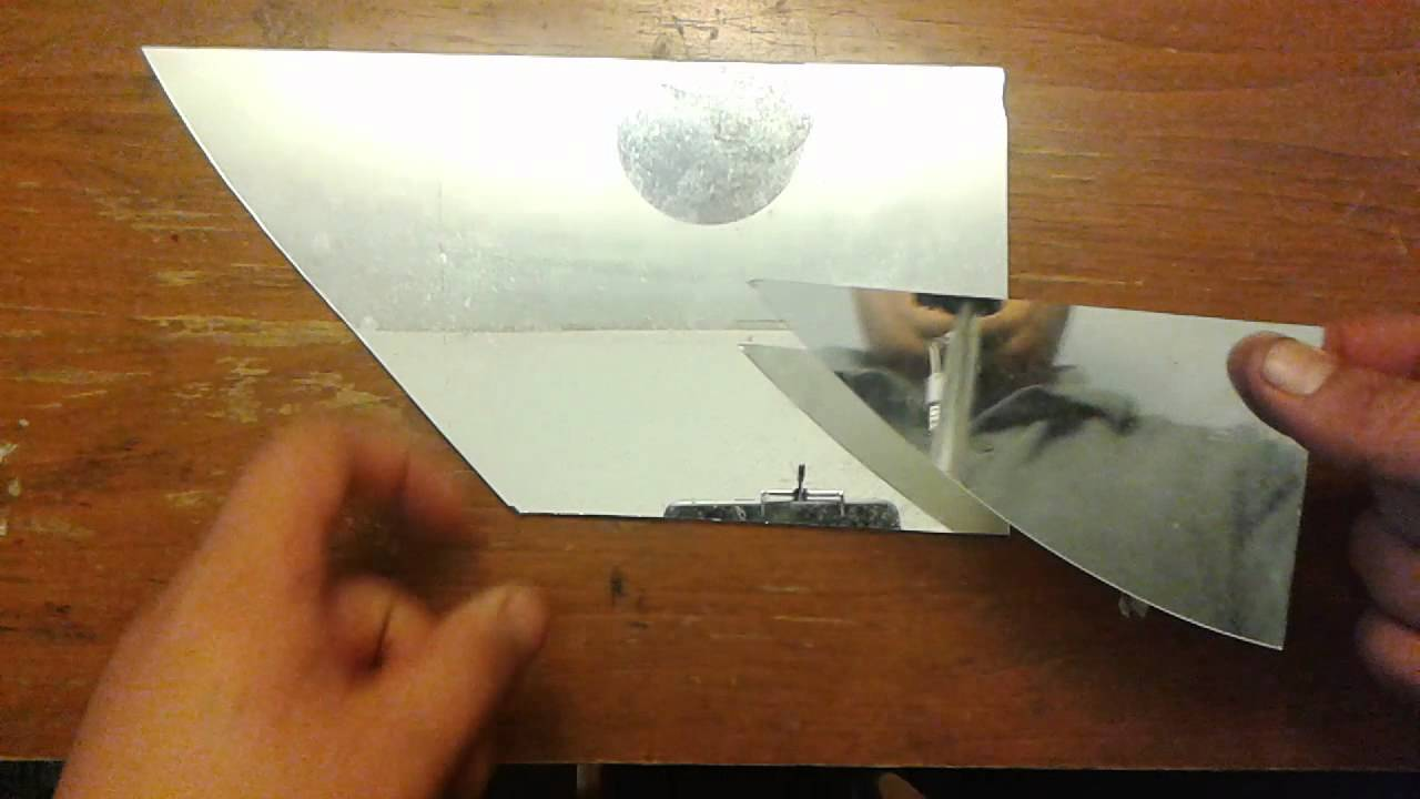 Cutting Mirror Glass With A Cutter Tool