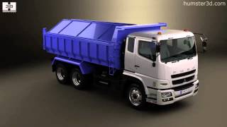 Mitsubishi Fuso Super Great Dump Truck 3-axle 2007 by 3D model store Humster3D.com