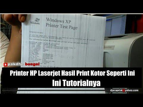 Printer Hp Laserjet Hasil Print Kotor Bergaris Karena Pembuangan