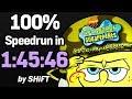 SpongeBob SquarePants: Battle for Bikini Bottom 100% Speedrun in 1:45:46 (WR on 12/28/2017)