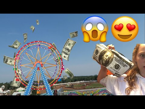 WE FOUND $100 AT THE FAIR!! (CRAZY)