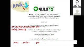 Corso di esperanto per italofoni. Lezione 3 (parte 2). 14/04/2020.