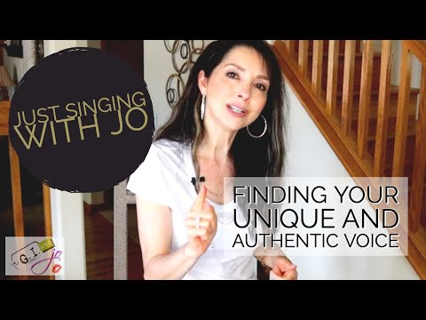 Finding Your Unique and Authentic Singing Voice - Just Singing with Jo