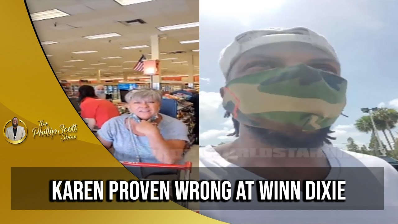 Winn Dixie Karen Falsely Accuse Brotha Of Stealing To The Manager & Proven Wrong