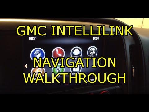 Quick Look Gmc Intellilink Navigation Walkthrough 2014 Gmc Sierra Youtube