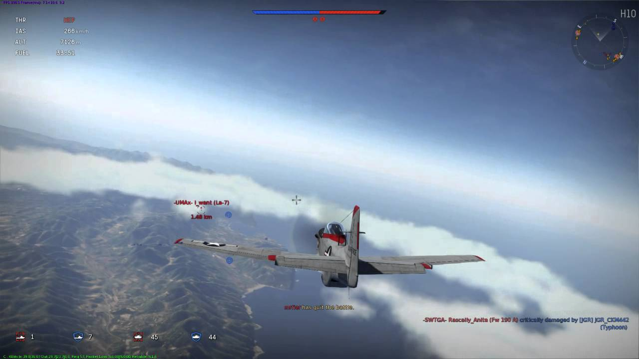 War Thunder Silver Bullet P 51d Mustang Youtube