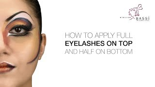 Atelier Bassi Tips & Tricks: How to Apply Full Eyelashes on Top and Half on Bottom