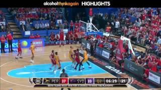 Perth Wildcats vs Sydney Kings Highlights - 10 February 2017