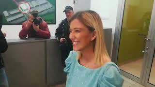 Kristina Kija Kockar na snimanju novogodišnjeg programa televizije Pink