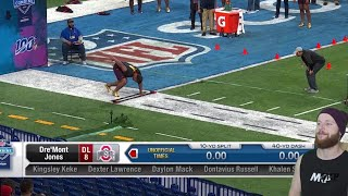 Rugby Player Reacts to The 2019 NFL Combine DEFENSIVE LINEMEN Running The 40 Yard Dash!