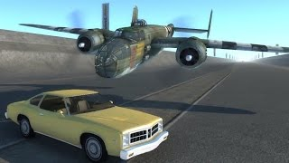 Planes Attacking Cars - beamNG.drive