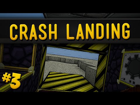 Minecraft Crash Landing - Part 3 - How To Get Clean Water & ObsidianTools