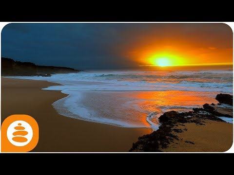 Relaxing Music, Nature sounds, Meditation music, Ocean Sunset, 4k - 0004