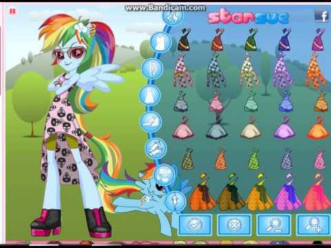 Equestria Girls Rainbow Dash Pony Games Dress Up Gam