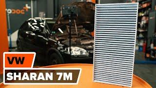 Cum se inlocuiesc filtru de habitaclu pe VW SHARAN 7M TUTORIAL | AUTODOC