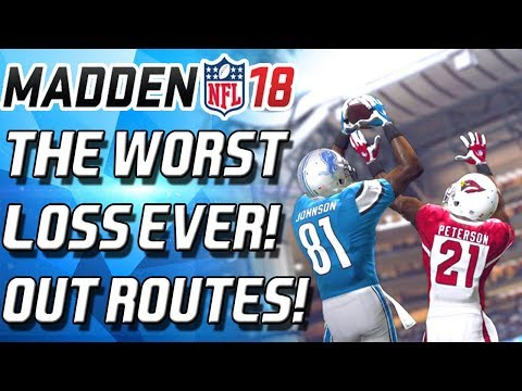 WORST LOSS EVER! DEATH BY A THOUSAND OUT ROUTES! - Madden 18 Ultimate Team