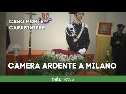 Carabiniere morto durante esercitazione, camera ardente a Milano