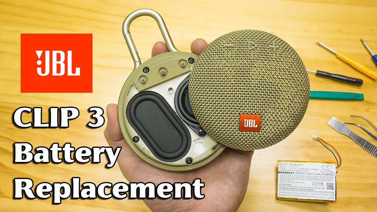 Download JBL Clip 3 battery replacement; teardown; disassembly