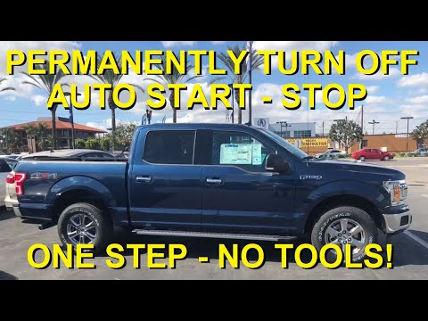 How To Deactivate Disable Disconnect Turn Off Ford F-150 F150 Auto Start Stop Permanently in seconds