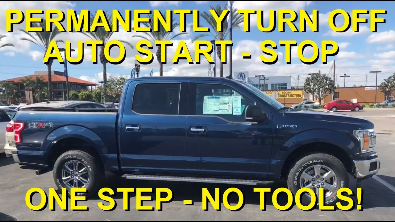 How To Deactivate Disable Disconnect Turn Off Ford F 150 F150 Auto Start Stop Permanently In Seconds