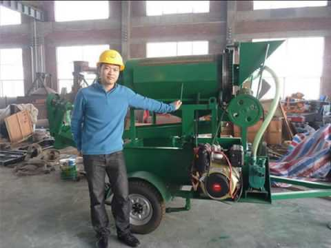 2014 high capacity small scale alluvial gold dust washing machine