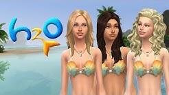 Sims 4 CAS: Rikki, Emma und Cleo aus H2O - Plötzlich Meerjungfrau