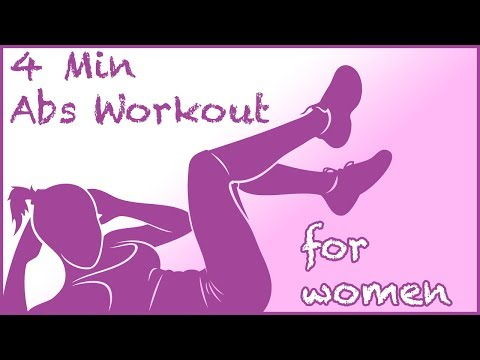 4 Min Abs Workout for Women  No Music