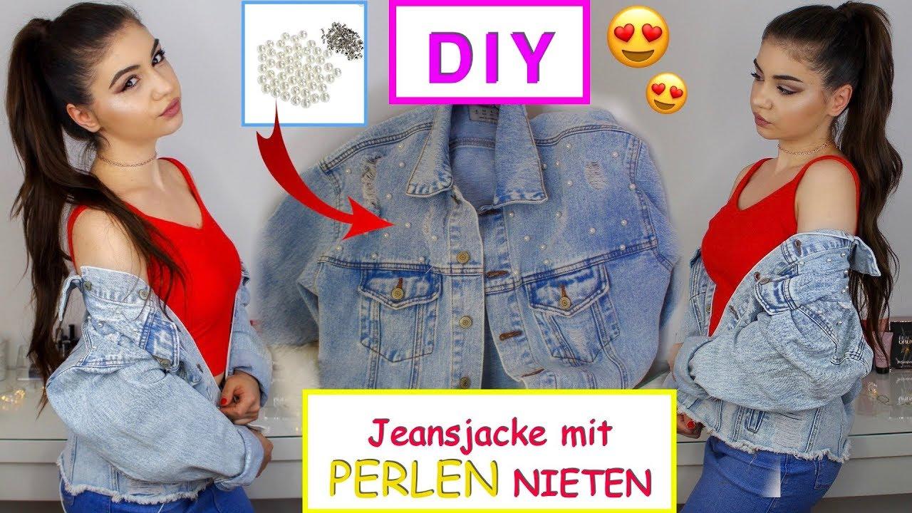 Diy jeansjacke mit perlen versch nern yaseminboom youtube - Jeansjacke perlen ...