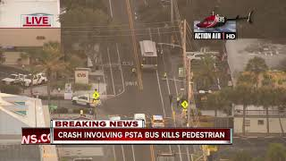 Crash involving PSTA bus kills pedestrian