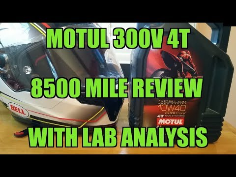 MOTUL 300V 4T 8500 MILE REVIEW WITH OIL TEST ANALYSIS