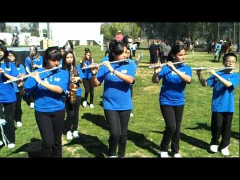 Sunnymead middle school marching band.