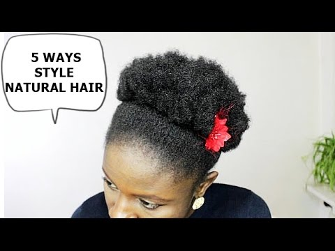style my natural hair how to style hair 5 ways 5984 | hqdefault